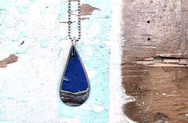 Kette tropfenförmig schmal blau