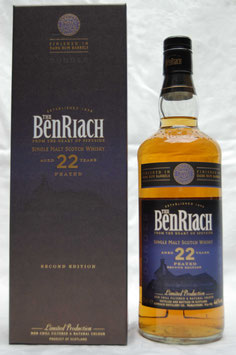 Benriach 22 Jahre Dunder Dark Rum Finish Second Edition