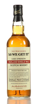 As we get it - Hughland Single Malt