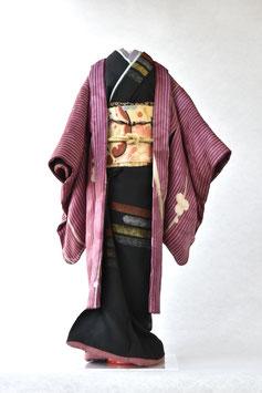 「梅縞紫(羽織)」夢こべべ