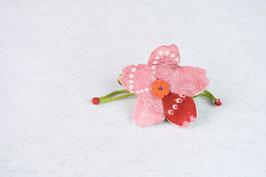 みこ花「ピンク赤絞り」mi-2c
