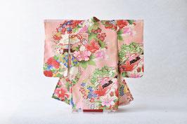 掛こべべ 〜涼み〜「桜色 花文様」