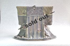 掛こべべ「縞 灰青」sold out