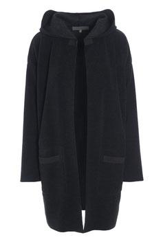 HENRIETTE STEFFENSEN | Cardigan mit Kapuze SOFT BLACK