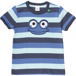 green cotton Hello Fred s/s T blue