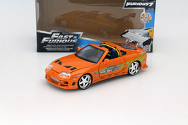 "Toyota Supra 1995 ""Film Fast and Furious 2001"" orange / grün mit Brain Figur"
