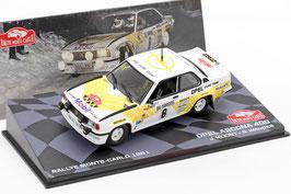 Opel Ascona 400 #6 3rd Rallye Monte Carlo 1981 J. Kleint / G. Wanger