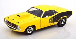Plymouth Cuda Drag Car 1972 gelb / matt-schwarz
