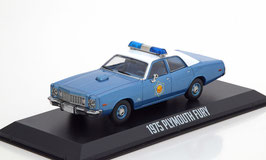 "Plymouth Fury VII 1975-1976 Police blau met. / weiss ""Film Smokey and the Bandit 1977"""