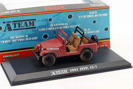 "Jeep CJ-7 1976-1986 ""TV-Serie The A-Team 1983-1987 rot"""