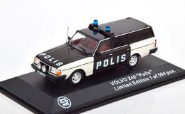 """Volvo 240 Kombi 1984-1993 """"Polis Sweden schwarz / weiss"""""""