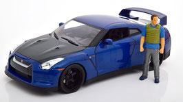 Nissan GT-R R35 2009 dunkelblau / Carbon Fast & Furious / Brian mit Lichfunktion
