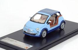 """Fiat 500 Tender Two """"Castagna Milano"""" 2008 hellblau 1:43 von Premium X / aus Resine hergestellt!"""