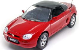 MG F 1.8i VVC Roadster Typ RD Phase I 1995-1999 rot / Verdeck geschlossen schwarz