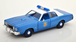 "Plymouth Fury VII 1975-1978 Police blau met. / weiss ""Film Smokey and the Bandit 1977"""