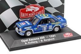 Opel Ascona 400 #11 Rally Monte Carlo 1981 A. Kullang / B. Berglund