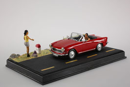 Simca Oceane Cabriolet 1957-1962 rot Diorama