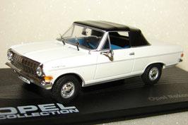 Opel Rekord A Cabriolet 1963-1965 weiss / Verdeck geschlossen schwarz
