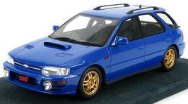 Subaru Impreza WRX Sport Wagon GF8 1994 RHD blau / mit Alufelgen in gold met.