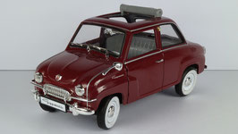 Glas Goggomobil T250 1955-1969 dunkelrot / Faltdach offen
