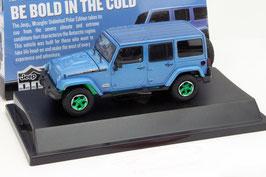 Jeep Wrangler 4-Türer 2015 blau met.  Felgen grün / Hardtop abnehmbar!