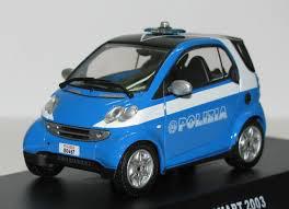 Smart Fortow 2003 Polizia blau / weiss