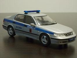Saab 9-5 Sedan Phase I 1997-2001 Police Moscow silber met. / blau
