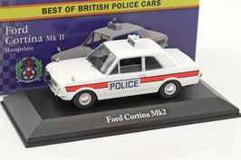 "Ford Cortina MK II 1966-1970 ""Hampshire Police"" RHD weiss"