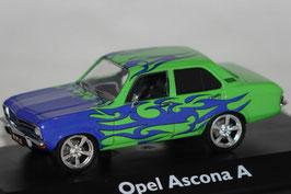 "Opel Ascona A 1970-1975 ""Tuning Version"" blau / hellgrün"