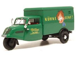 """Tempo Hanseat Lieferwagen 1949-1956 """"Kühne Senf!"""" grün"""