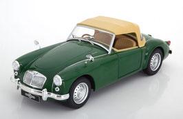 MG A MK I Twin Cam 1958-1960 dunkelgrün Soft Top geschlossen beige