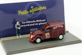 "Citroën 2CV Kastenwagen ""Lebensmittelhändler Felix Potin"" Bordeaux / rot Diorama"