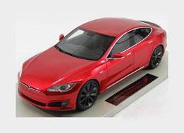 Tesla Model S Phase II seit 2016 dunkel rot met.