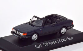 Saab 900 Turbo 16 Cabriolet 1986-1994 dunkelblau met. / schwarz