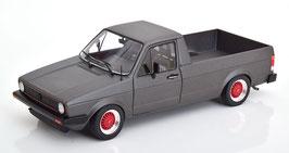 VW Caddy Pick Up Custom II 1982 matt-anthrazit / Felgen rot