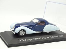 Talbot Lago T150SS Figoni Falaschi 1938 dunkelblau / hellblau