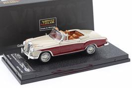 Mercedes-Benz 220 SE Cabriolet W128 1958-1960 hellgrau / dunkelrot