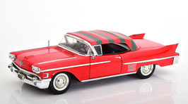 "Cadillac Series 62 Convertible 1958 rot mit Figur Freddy Krüger ""Film A Nightmare on Elm Street 1984"