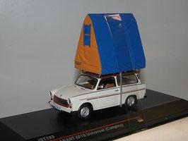 Trabant 601 S Universal 1980 Camping mit Dachzelt beige / dunkelrot