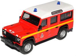 """Land Rover Defender 110 1990-2016 """"Feuerwehr rot / weiss / schwarz"""""""