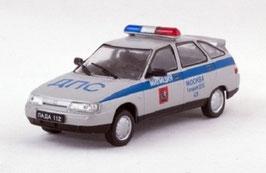 Lada 2112 / VAZ 1999-2008 Police Moskau silber / blau