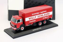 """Saurer D290 Kasten-LKW 1976-1982 """"Willy Schlauri 1978"""" rot / weiss"""