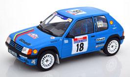 Peugeot 205 Rallye #18 Tour de Corse 1990 Chollier / Vericel blau