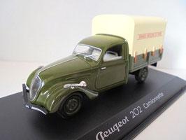 """Peugeot 202 Fourgonette 1947 """"Grands Moulins de Paris"""" dunkelgrün / beige"""