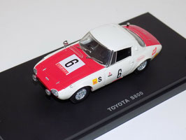 Toyota Sports 800 Racing #6 1966 weiss / rot