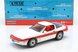 "Chevrolet Corvette C4 Phase i 1983-1990 ""TV-Serie The A-Team 1983-1987 weiss / rot"