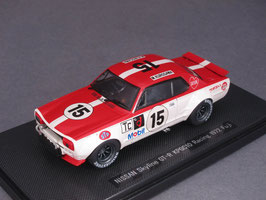 Nissan Skyline GT-R KPGC10 #15 Racing Fuji 1972 Kurosawa rot / weiss