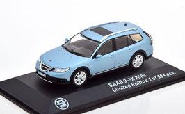 Saab 9-3 X 2009-2011 hellblau met. / schwarz