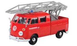 """VW T1c Pick Up Doka 1963-1967 """"Feuerwehr Drehleiter rot / weiss / grau"""""""