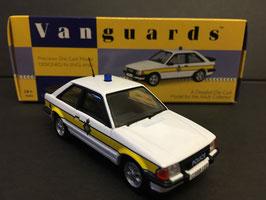 Ford Escort MK III XR3i 1982-1986 Police Cambridgeshire weiss / gelb